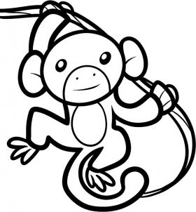 280x302 How To Draw How To Draw An Ape For Kids