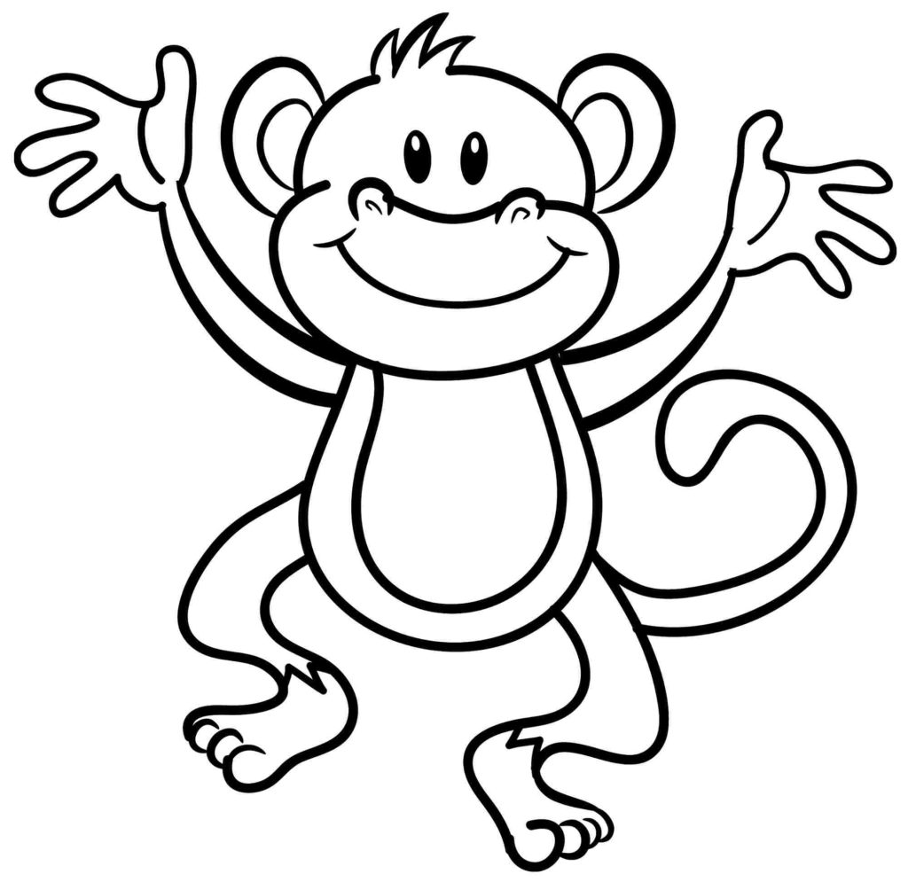 1024x995 Monkey Coloring Pages For Preschoolers Coloring