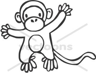 320x245 Monkey Hand Drawn Sketch