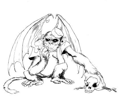426x362 Drawbridge Flying Monkey