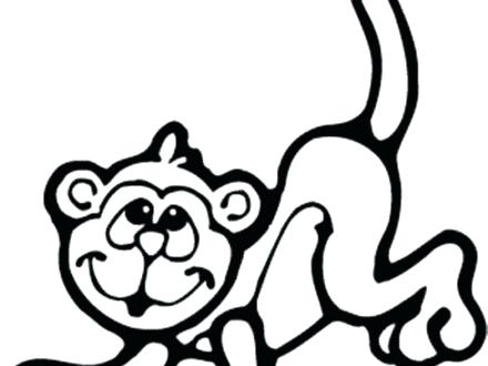 440x330 Delightful Coloring Pages Of Monkeys Print Best Monkey Drawing