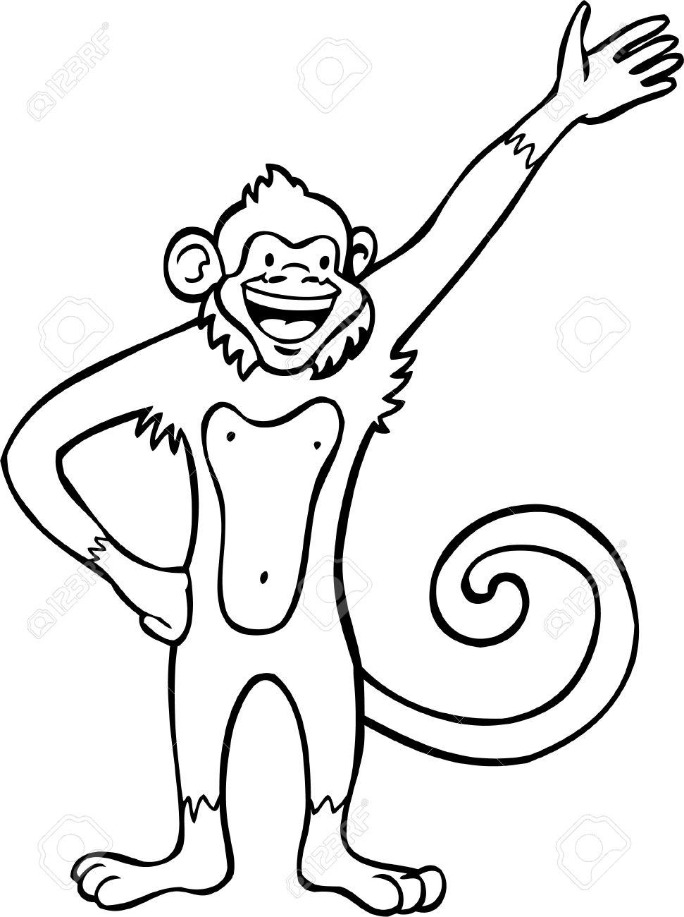 971x1300 Drawn Monkey