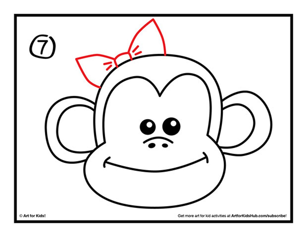 1199x927 Easy Drawings Of Monkeys Monkey Drawing Best Images Collections