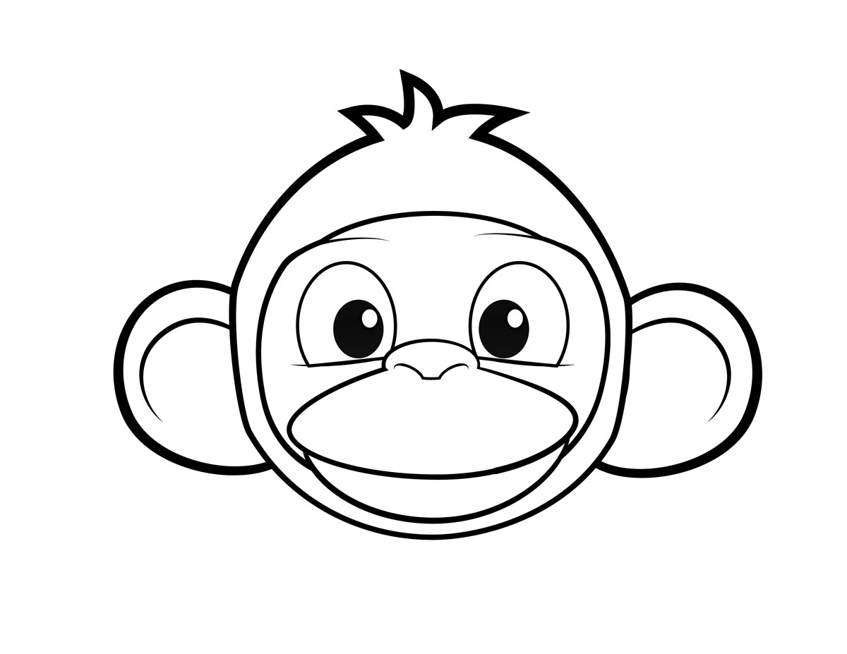 Monkey Face Drawing at GetDrawings.com   Free for personal use ...