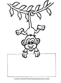 236x318 Monkey Hanging Coloring Printables For Kids Free Word Search