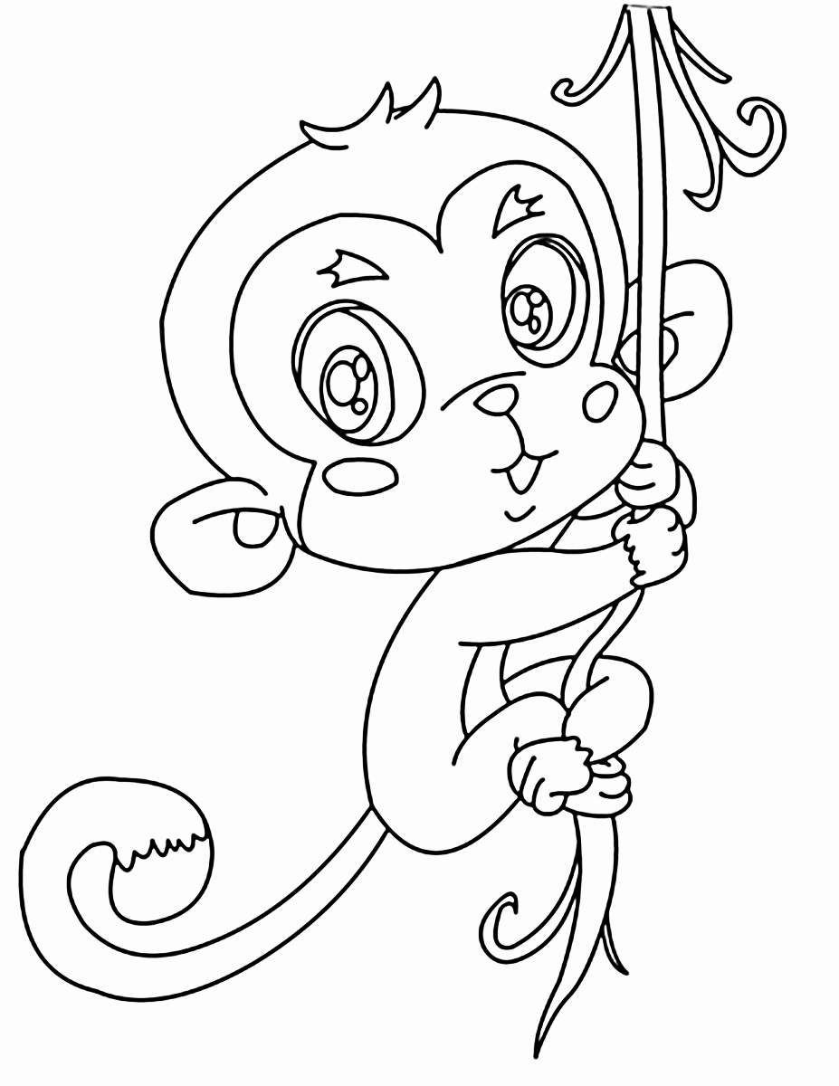 927x1200 50 Unique Pictures Of Monkey Coloring Page