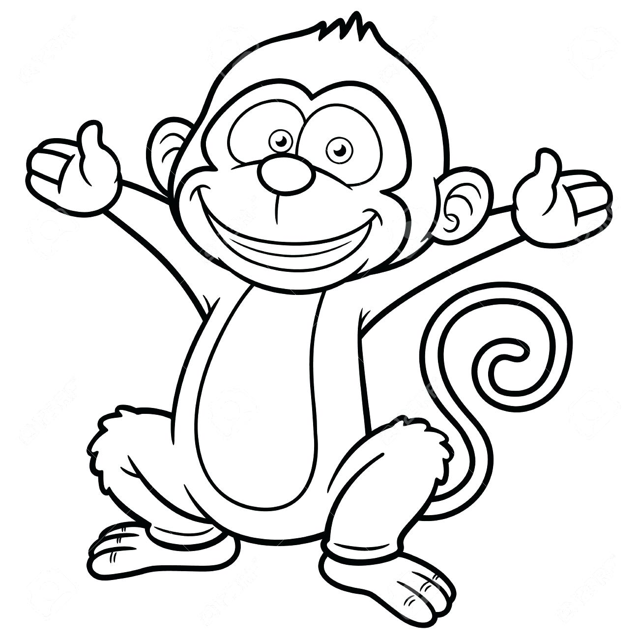 Monkey Line Drawing at GetDrawings.com | Free for personal use ...