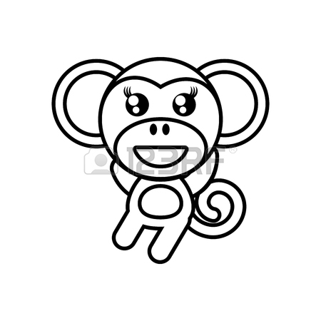 Monkey Outline Drawing At Getdrawings Com