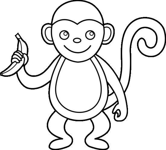 550x496 Security Outline Of A Monkey Year The Clipart Pencil And