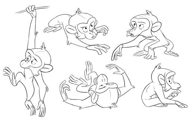 640x402 Das Sketches Funny Monkey, Character Design