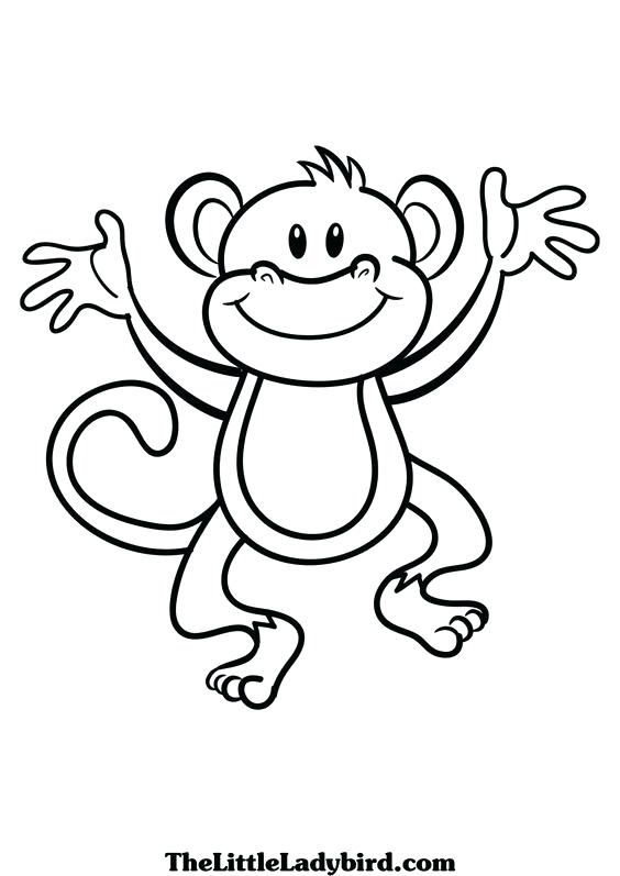 564x797 Best Monkey Coloring Pages New Year Of The Black And White Pencil
