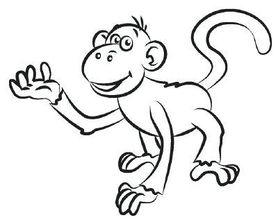 400x320 Drawings Of Monkeys How To Draw A Monkey In 5 Steps Cute Monkey