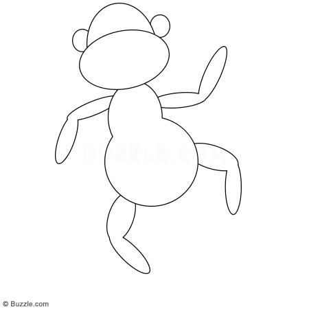 450x450 Kids, Go Ape! Step By Step Instructions To Draw A Cartoon Monkey
