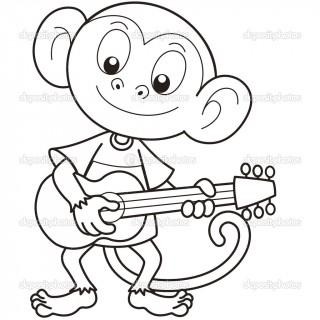 320x320 Tag For Loving Monkey Cartoon Drawing Baby Monkey Clip Art Image