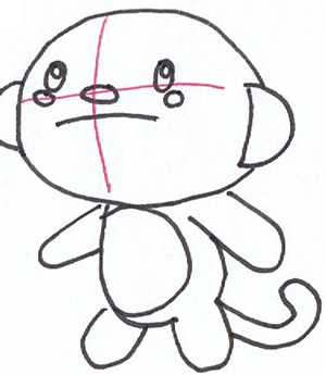 300x345 How To Draw Hoho Monkey From Kai Lan Step By Step Drawing Tutorial