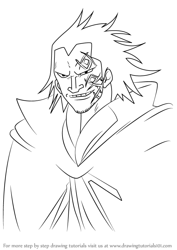 598x844 Learn How To Draw Monkey D. Dragon From One Piece (One Piece) Step