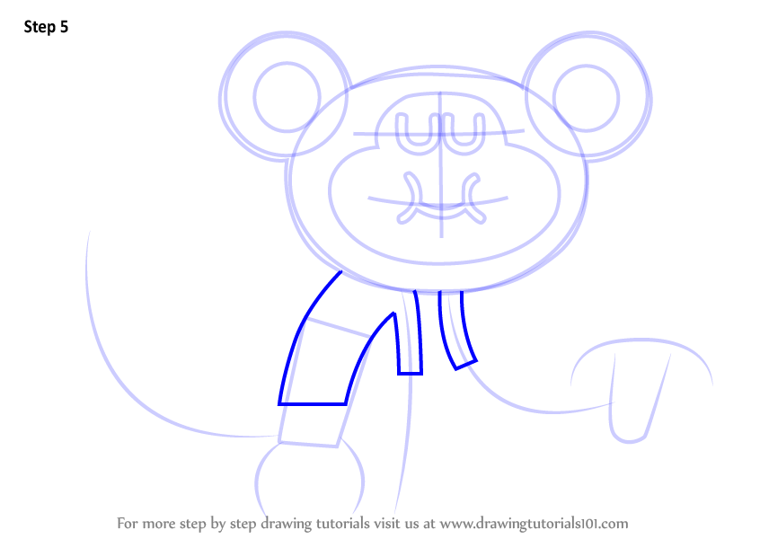 846x600 Learn How To Draw Naughty Monkey From Hey Duggee (Hey Duggee) Step