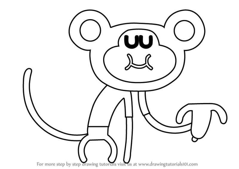 800x567 Step By Step How To Draw Naughty Monkey From Hey Duggee