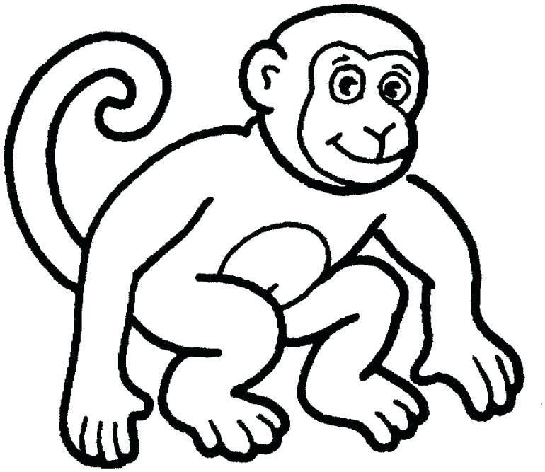 770x667 Coloring Pages Of Spider Monkeys Kids Free Cute Pictures Animals