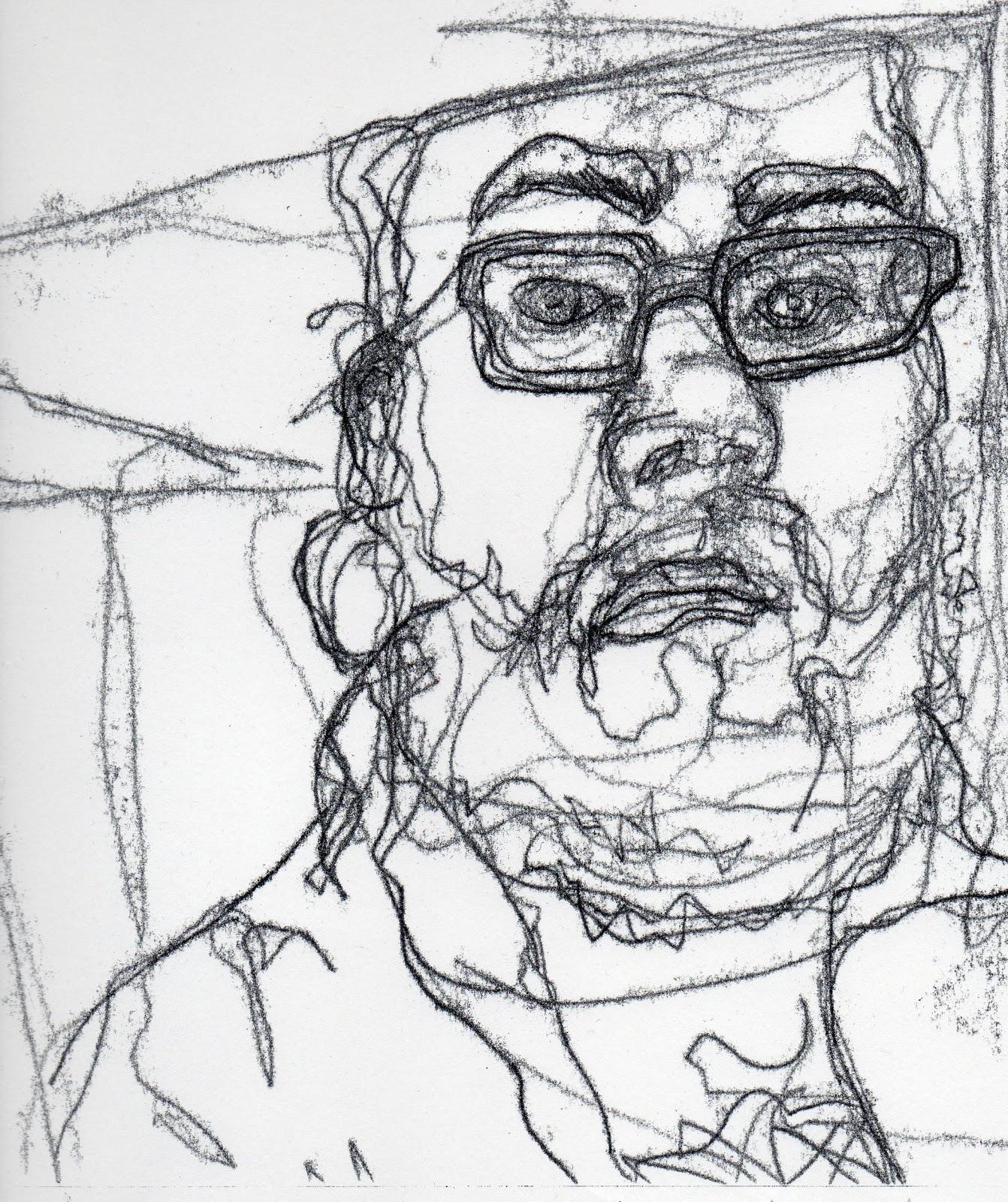 1342x1600 Personal Space [Suit] Mono Print Self Portrait.