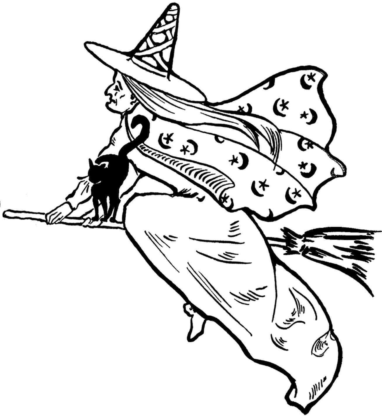 1307x1422 Rhshutterstockcom Vector White Witch Drawing Monochrome Drawing