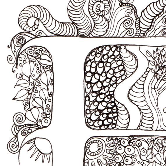 570x570 Monogram F Initial Colour Me In Illuminated Letters