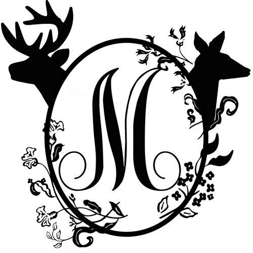 500x500 Buck And Doe Drawing Mailbox Monogram, Ltbgtdrawingsltgt And Deer