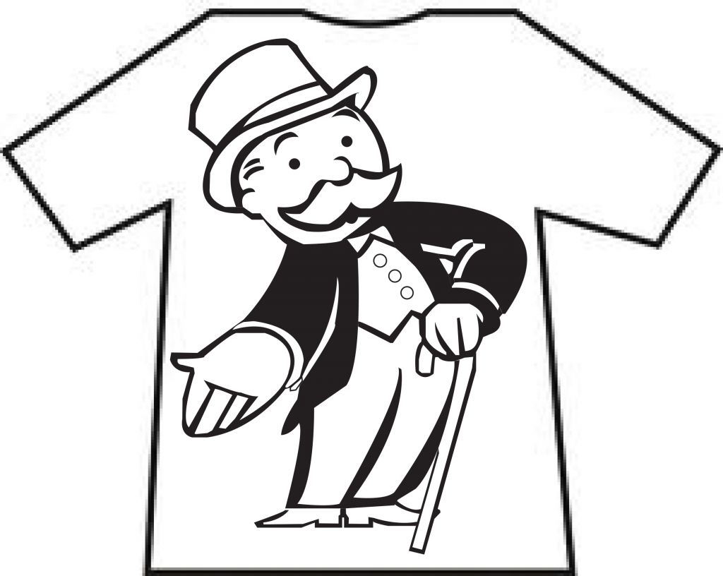 This is a photo of Resource Monopoly Man Drawing