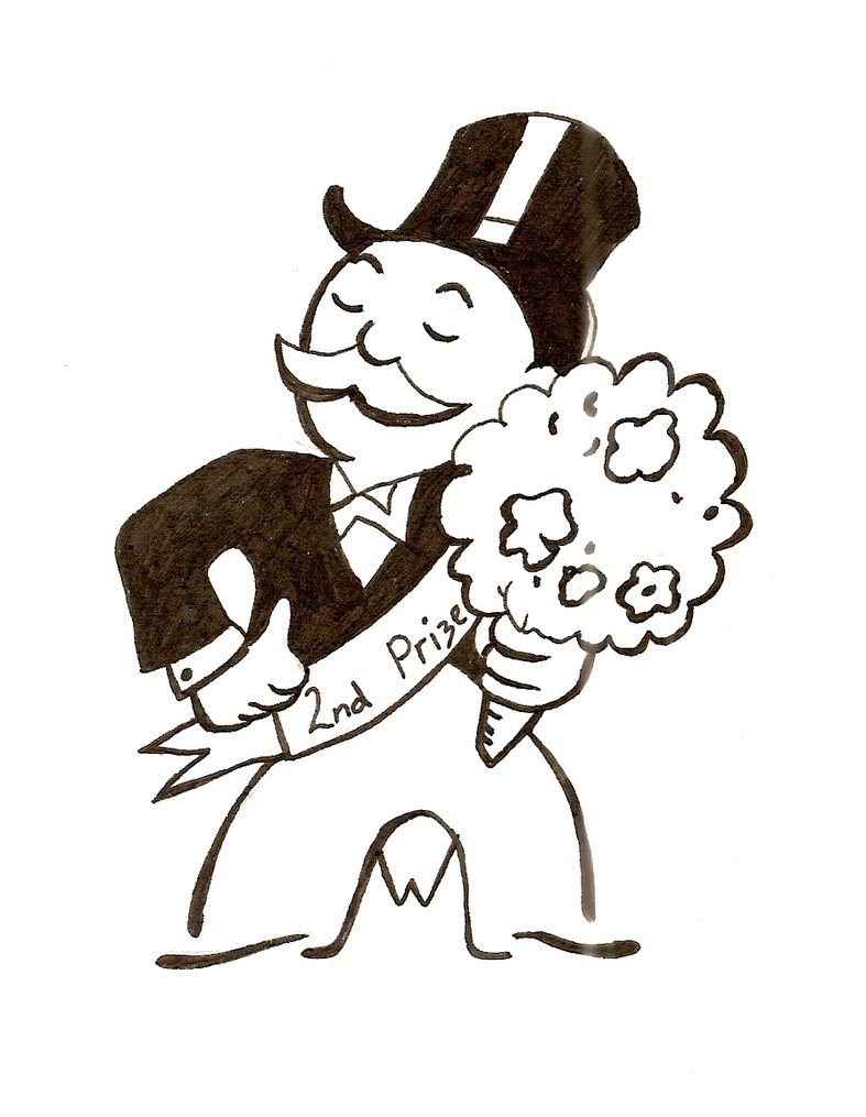 It's just a graphic of Crush Monopoly Man Drawing