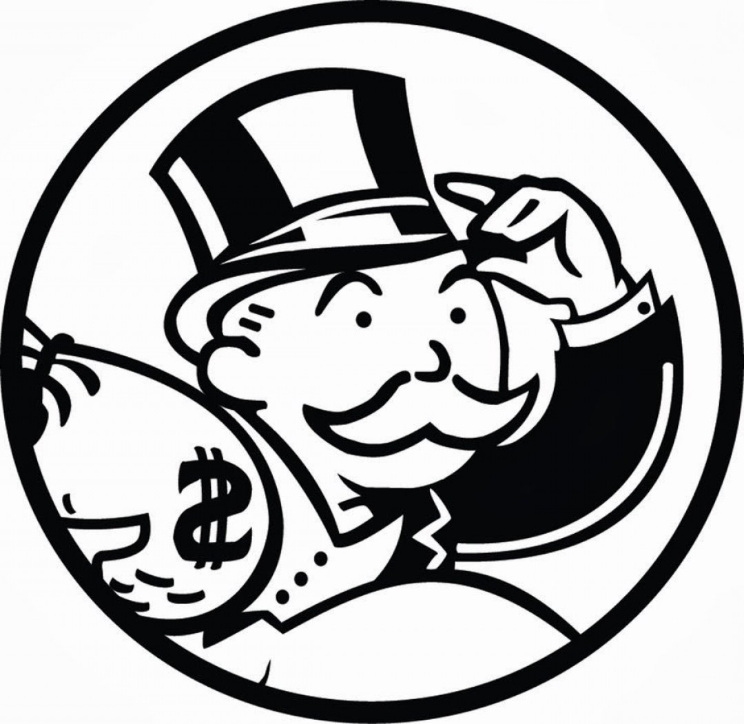 1080x1051 Monopoly Man Clipart Black And White Ardiafm
