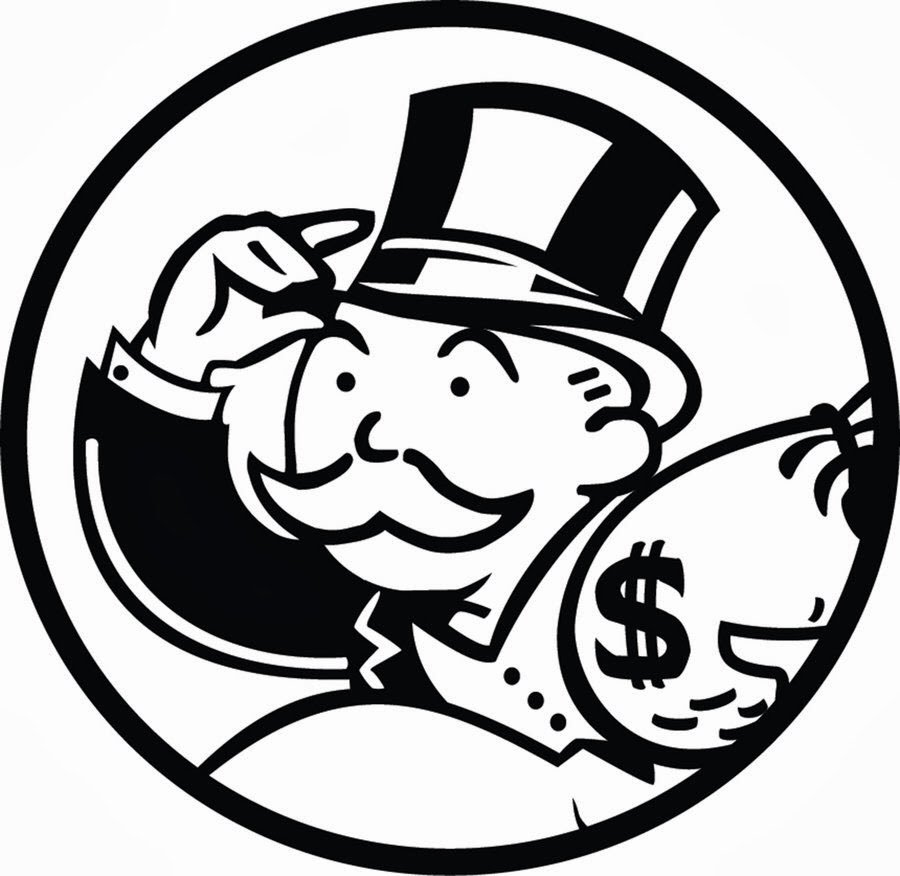 It's just an image of Effortless Monopoly Man Drawing
