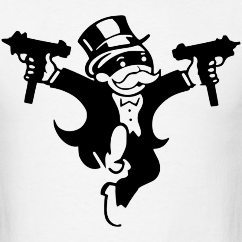 800x800 Monopoly Man Clipart Black And White
