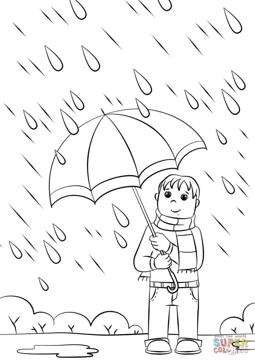 849x1200 Rainy Day Coloring Page Free Printable Coloring Pages