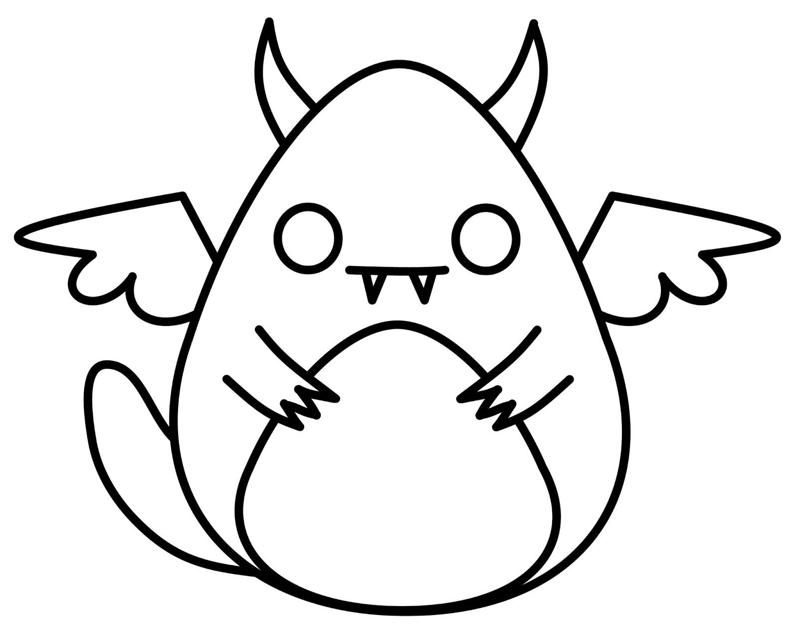 1600x1270 Drawing Of A Monster Easy Monster Drawings Draw A 007 Coloring