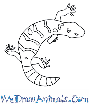 300x350 How To Draw A Gila Monster