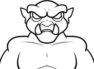 302x221 How To Draw How To Draw An Ogre For Kids
