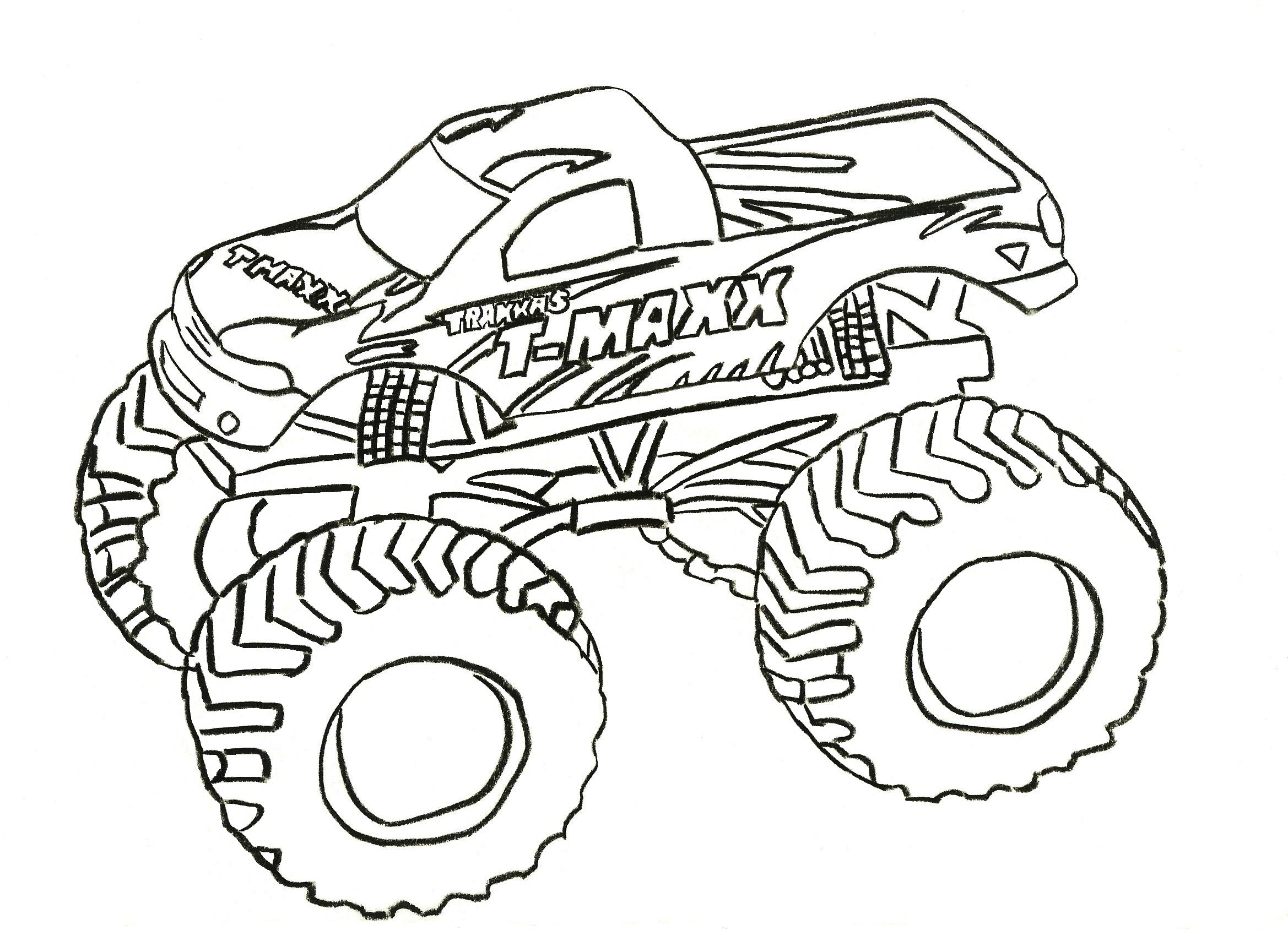 2338x1700 New Monster Jam Coloring Pages Free Printable Truck For Kids