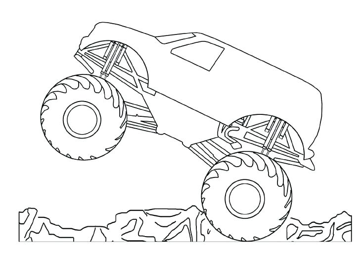 736x568 Monster Truck Coloring Pages Free Printable