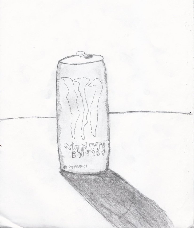 825x969 Monster Energy Drink Can By Mysticpics