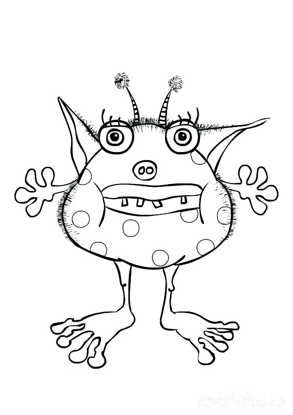 598x846 Printable Monster Coloring Pages Monster Coloring Page Monster