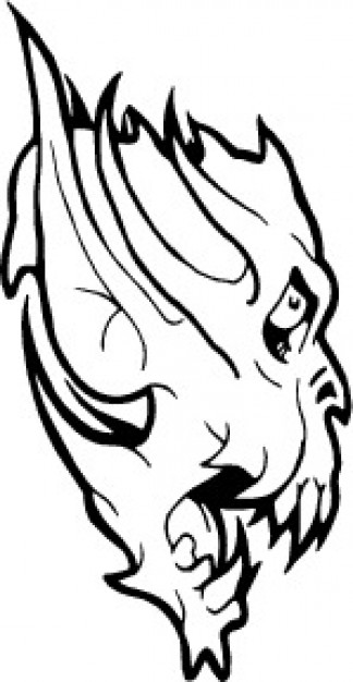 324x626 Monster Face With Long Ears Vector Free Download