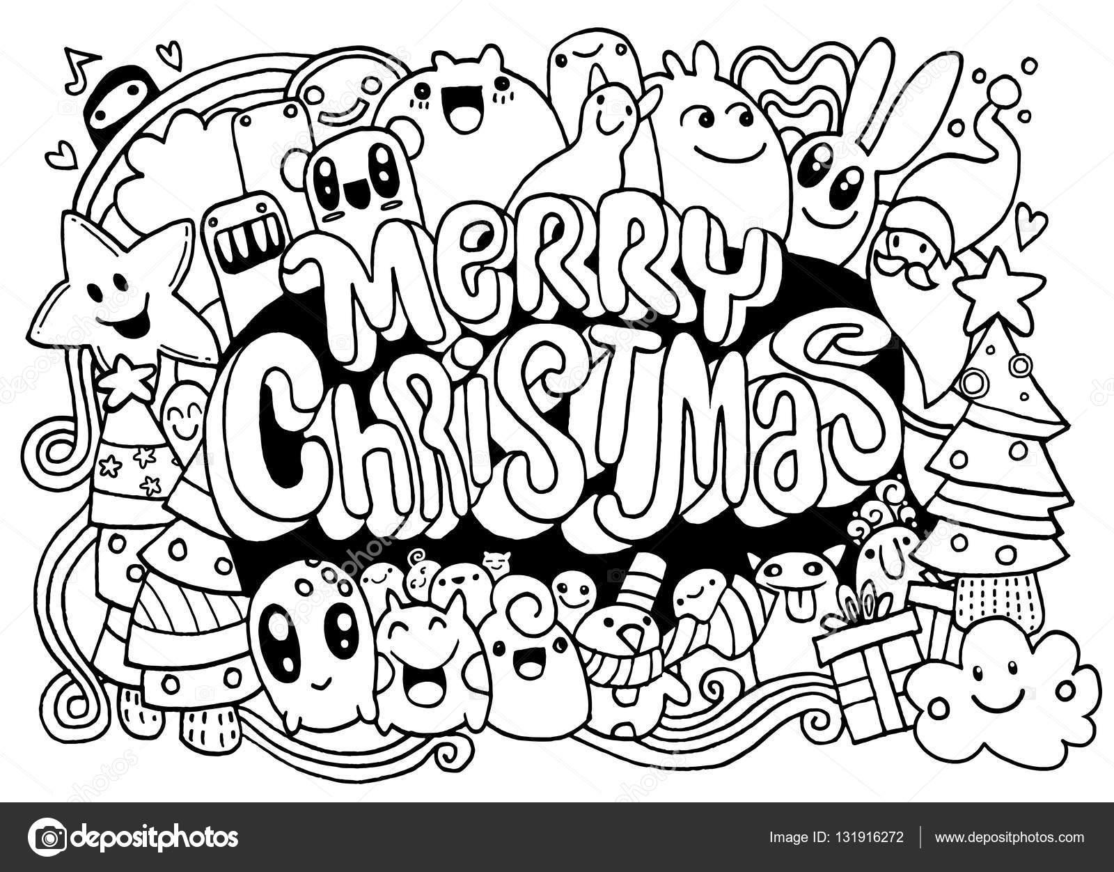 1600x1252 Hand Drawing Cartoon Christmas Vector Christmas