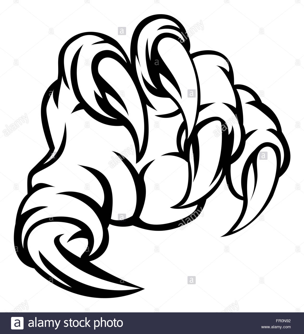 1266x1390 A Monster Claw Hand Illustration Stock Photo 100205646