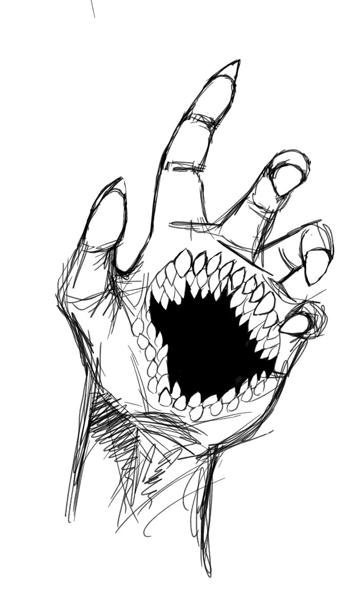 670x1191 Monster Hand By Javael