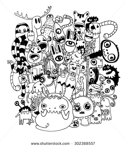 403x470 Vector Illustration Of Monsters And Cute Alien Friendly, Cool