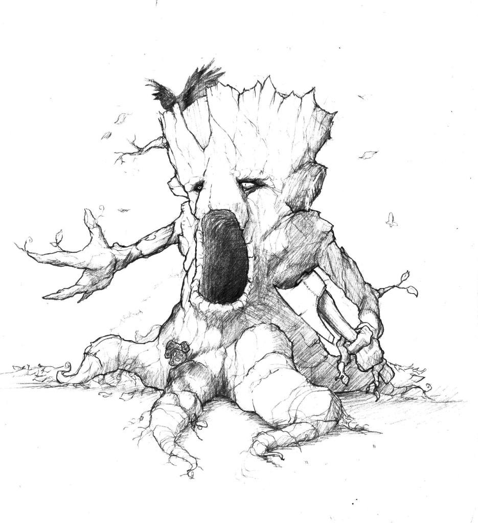 935x1024 Tree Monster Sketch