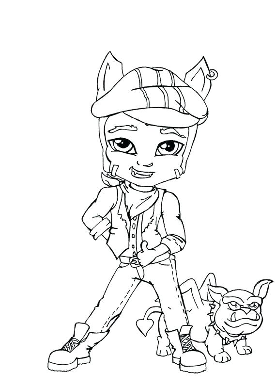 Monster High Clawdeen Wolf Drawing