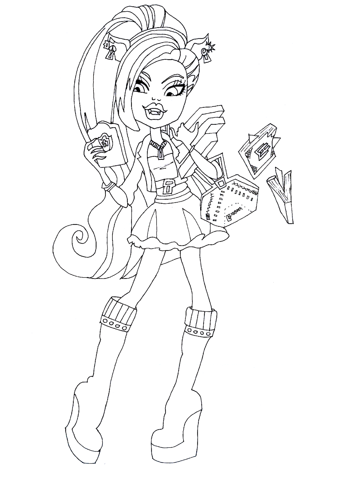 Monster High Draculaura Ausmalbilder : Monster High Clawdeen Wolf Drawing At Getdrawings Com Free For