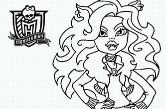 333x218 Monster High For Coloring, Clawdeen Wolf