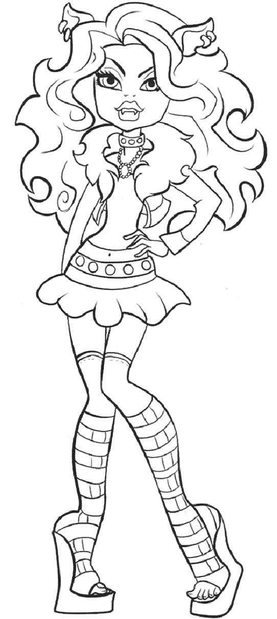 542x1210 Pictures Clawdeen Wolf Monster High Coloring Pages Color Pages